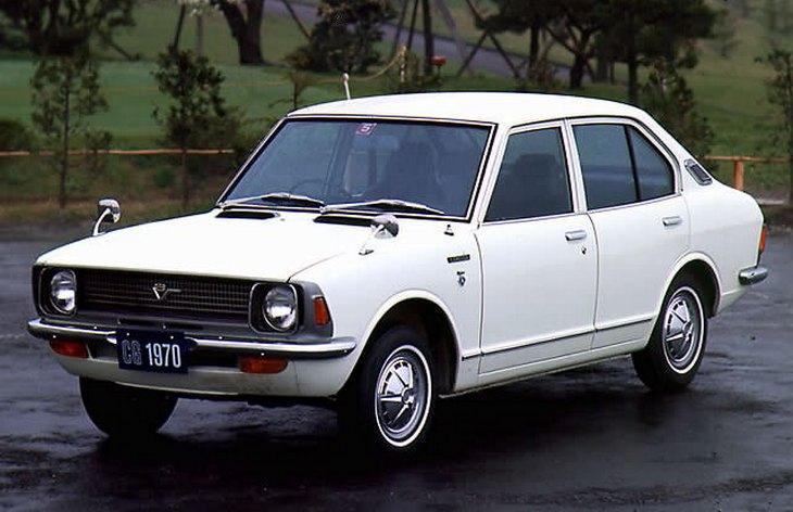 Седан Toyota Corolla второго поколения,  1970-1978