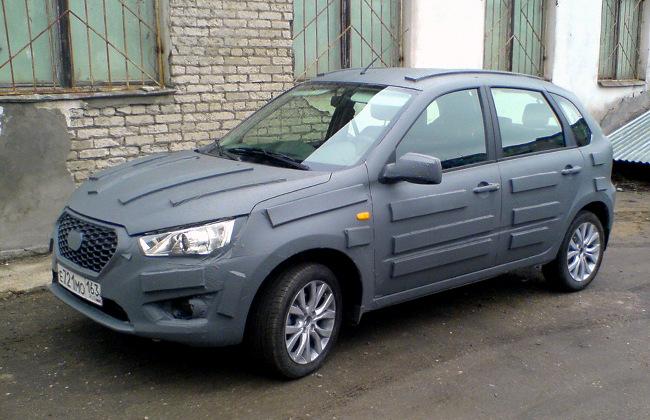 Datsun mi-DO hatchback was seen in Russia