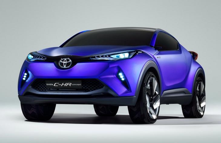 Toyota покажет серийную версию C-HR на Детройтском автосалоне
