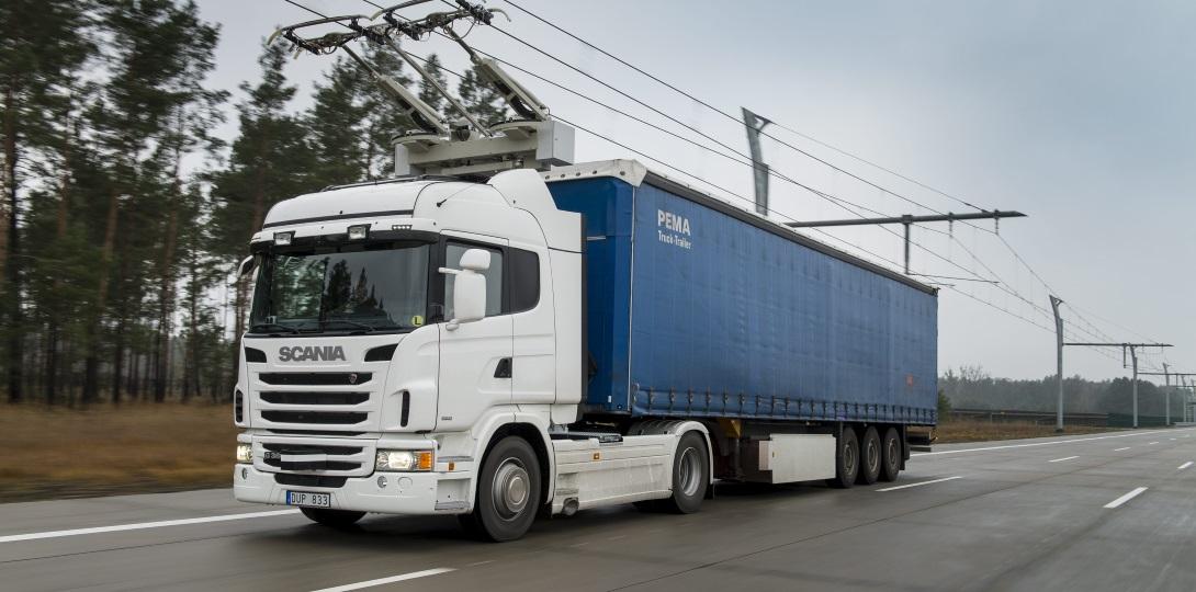 Компания Scania разработала грузовик-троллейбус