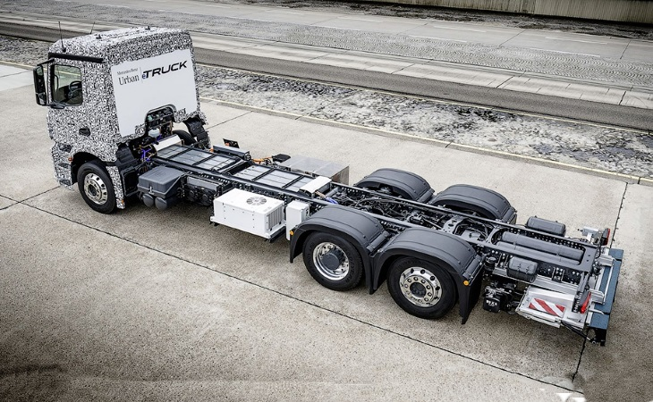 Mercedes показал прототип электрогрузовика