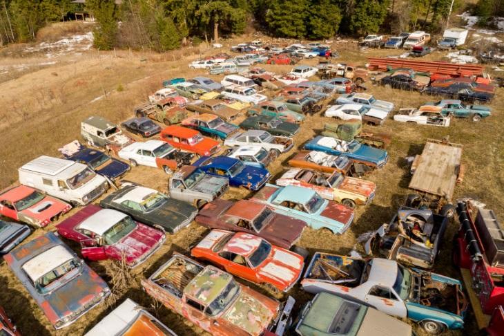 Автомобильное кладбище вживописном месте выставили на реализацию за млн. долларов