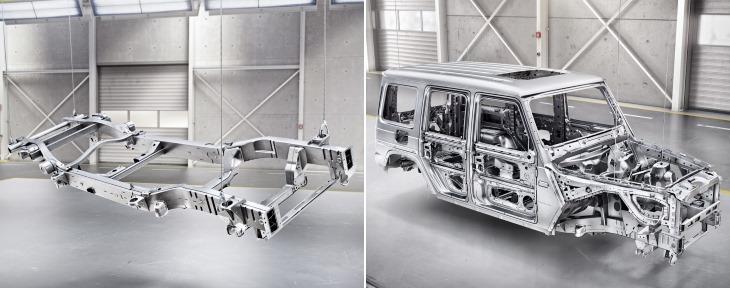 В конструкции рамы и кузова используются сталь и алюминий