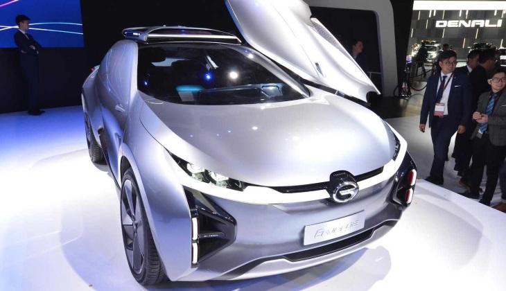 На автомобильном салоне вДетройте представили электрокар GAC Enverge без боковых окон