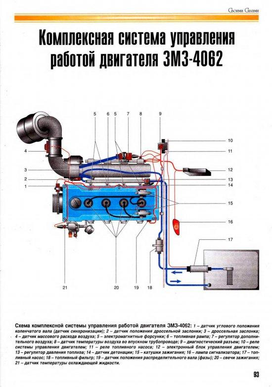 Двигатель 4062 инжектор схема