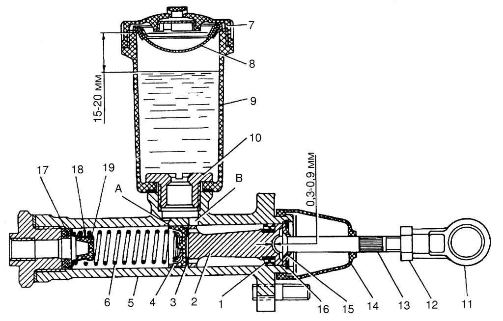 Схема педалей газ 3110